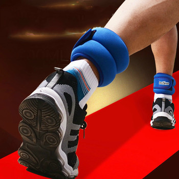 1 Pair 1KG Adjustable Leg Ankle Wrist Iron Sand Bag Weights Straps Foot Ring for Strength Training Fitness Exercise Running Gym 1kg bag 100