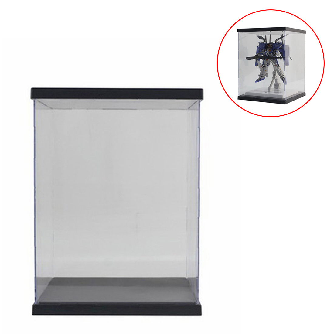 21 X 21 X 30cm/20cm/35cm/27cm Transparent Acrylic Dustproof Display Show Box With Lights For Figure Model/For <font><b>Gundam</b></font> MG RG <font><b>BB</b></font> image