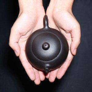 Image 2 - 200ML Yixing קומקום זישה Xishi קומקום בעבודת יד עם אריזת מתנה חליפת Tieguanyin Puer תה שחור