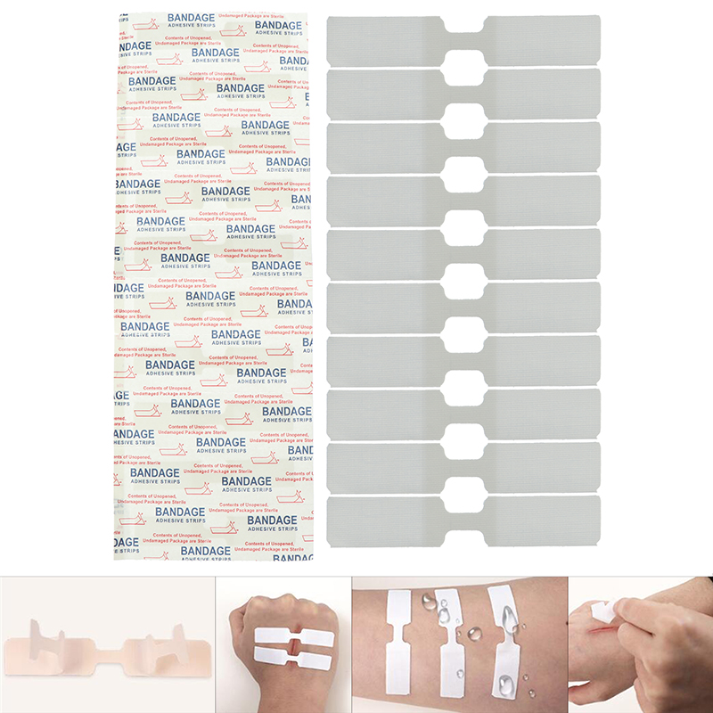 10PCs/Box 70x12mm Adhesive Bandages Waterproof Band Aid Butterfly Adhesive Wound Closure Band Aid Emergency Kit