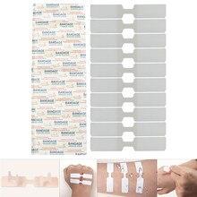 10 pçs/caixa 70x12mm ataduras adesivas à prova dwaterproof água bandaid borboleta adesivo ferida encerramento band aid kit de emergência