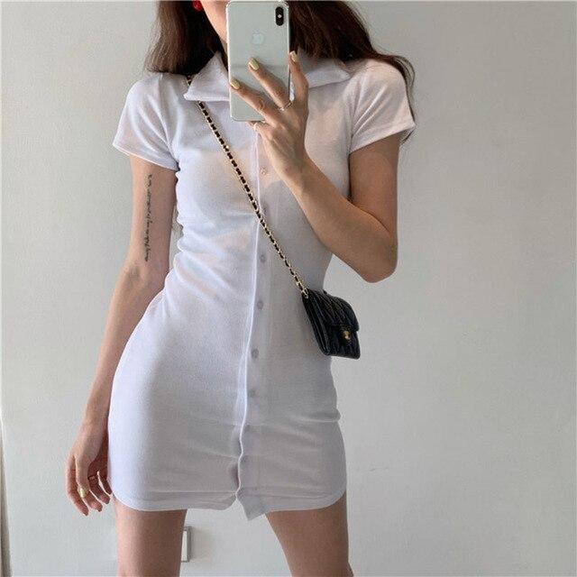 New women's dress Short sleeve skinny Retro dress dresses for fashion women casual elegant dress sexy dress 2021 club wear 4