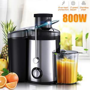 800W 220V Electric Juicer Stainless Steel Juicers Whole Fruit Vegetable Food-Blender Mixer Extractor Machine 2 Speed Adjustment