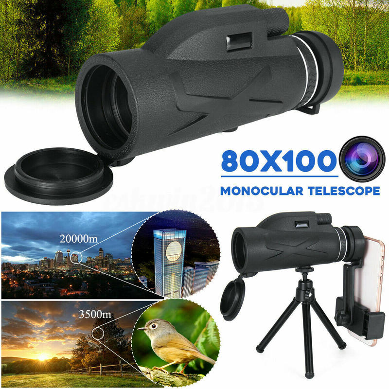 BAK4 80X100 оптика зум HD объектив военный армейский водонепроницаемый походный охотничий монокулярный телескоп профессиональный