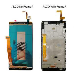 """Image 2 - 5.0 """"LCD עם מסגרת עבור Lenovo A6010 6010 מלא LCD תצוגת מסך מגע חיישן Digitizer עצרת החלפת A6010 תצוגה"""