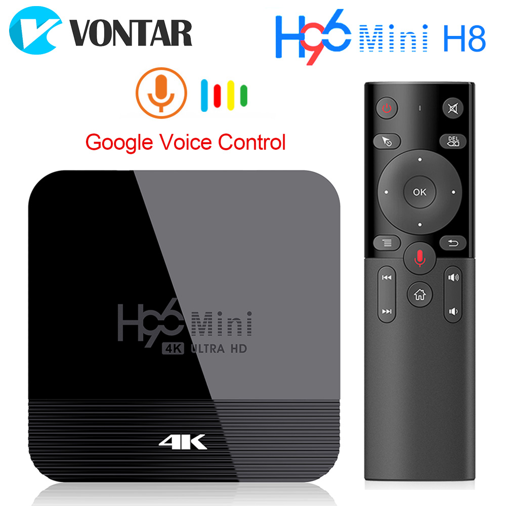 VONTAR H96 Mini H8 Android 9.0 TV Box 2GB 16GB Rockchip RK3328A 1080p 4K BT Wifi Google Store Netflix H96Mini 1G8G Set Top Box