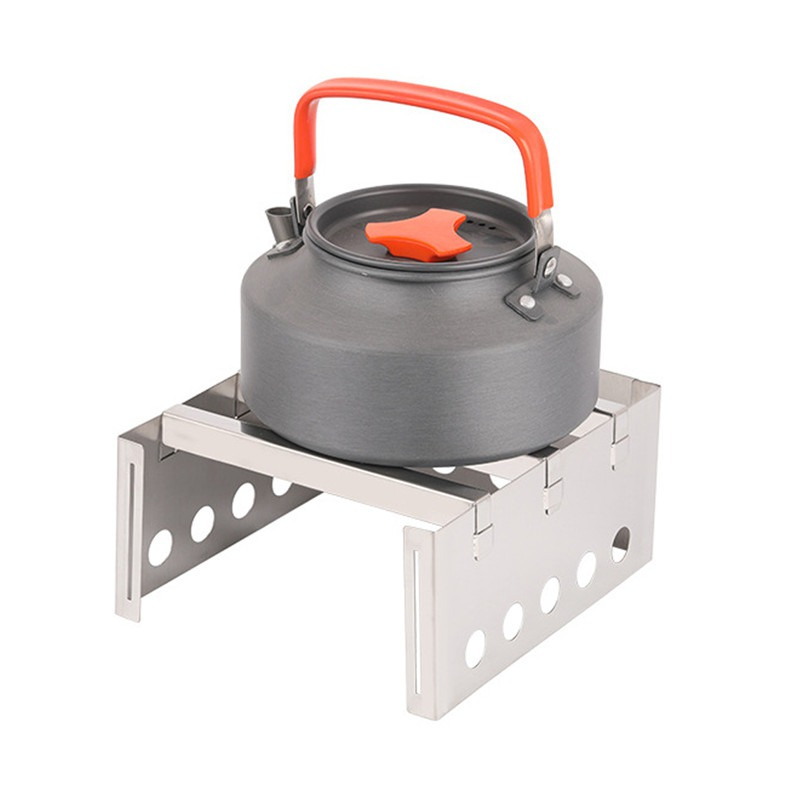 Outdoor Picnic Stainless Steel Stove Camping Wood Stove Compact Lightweight Backpacking Portable image