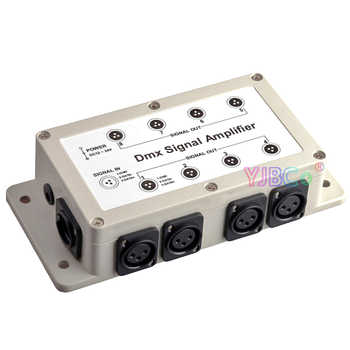 Dmx Amplifier 8 CH DMX512 Signal LED Intelligent Lighting Controller Stage Lamp Relay Amplifier 1000V Photoelectric Isolation