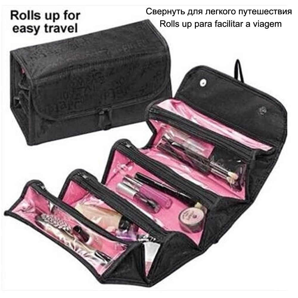 Necesser Beautician Travel Vanity Necessaries Women Beauty Toiletry Kit Make Up Makeup Cosmetic Bag Organizer Case Pouch Purse