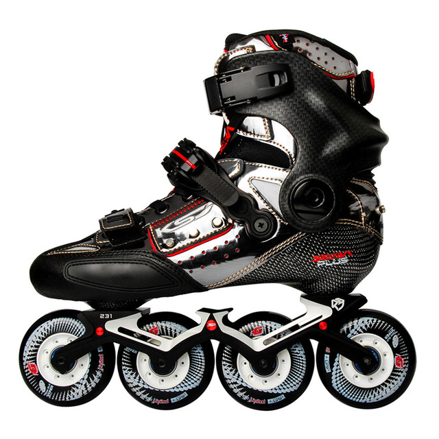 2020 Original SEBA KSJ Shadow Professional Slalom Inline Skates Carbon Fiber Roller Skating Shoes Sliding Free Skating Patines
