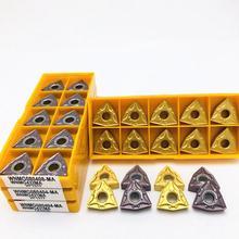 Hartmetall einfügen WNMG080404 WNMG080408 MA VP15TF UE6020 US735 Hohe-qualität externe metall drehen werkzeug CNC fräsen drehen tool