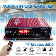 Blue/Red Low Distortion HIFI Digital BT Audio Power Amplifie