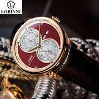 LOBINNI Meccanico Automatico della vigilanza degli uomini di мужские часы relogio impermeabile di lusso più recenti di affari orologio da polso erkek kol saati
