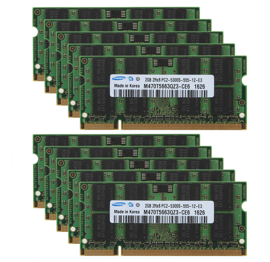 10pcs 2GB PC2 5300 6400S RAM DDR2 667 800Mhz 200pin SODIMM Laptop Memory For Samsung Kits|RAMs| – AliExpress