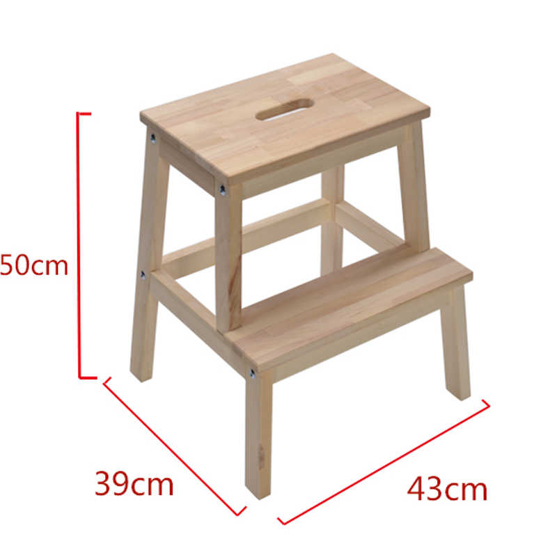 Layer Step Stool Solid Wood Shoes Bench