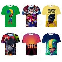 2 ila 13 yıl çocuklar T shirt çekim oyunu çocuklar erkek kız kısa kollu tshirt T Shirt Streetwear karikatür çocuk t shirt
