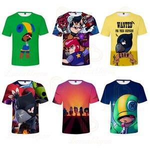 Image 1 - 2 ila 13 yıl çocuklar T shirt çekim oyunu çocuklar erkek kız kısa kollu tshirt T Shirt Streetwear karikatür çocuk t shirt