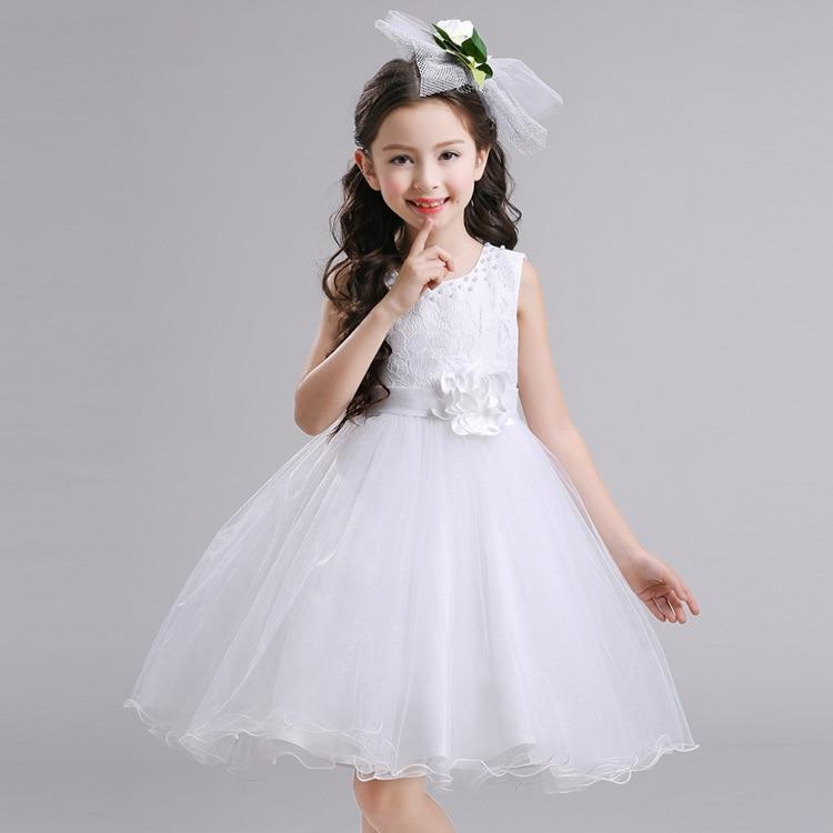 Girls Princess Dress Tutu Dress 2017 Summer New Style Children Wedding Dress Large Gril's Dress Vest Skirt