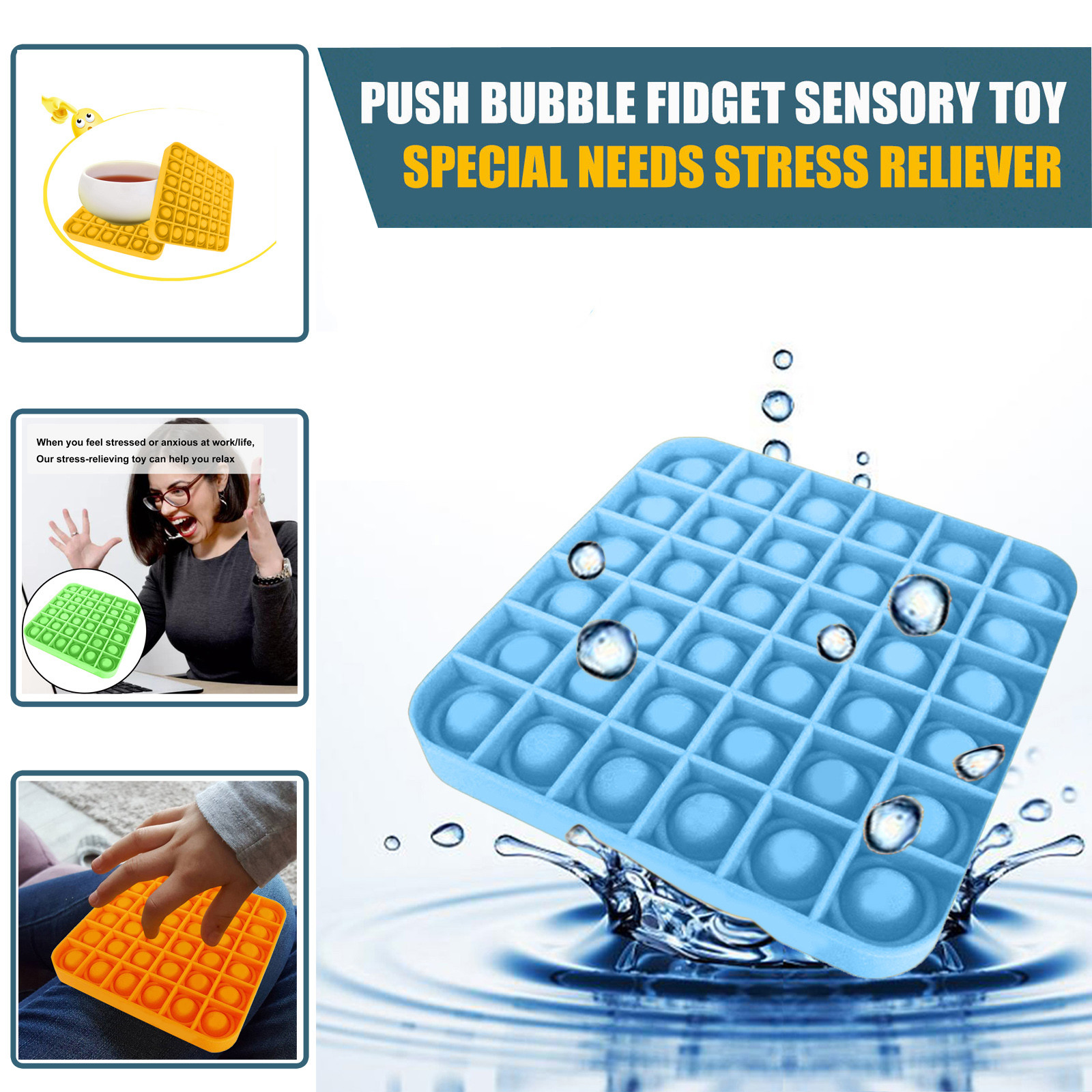 Toy Fidget-Toys Popit Special Sensory-Toy Needs-Stress Push Bubble Reliever Adult Kids img3