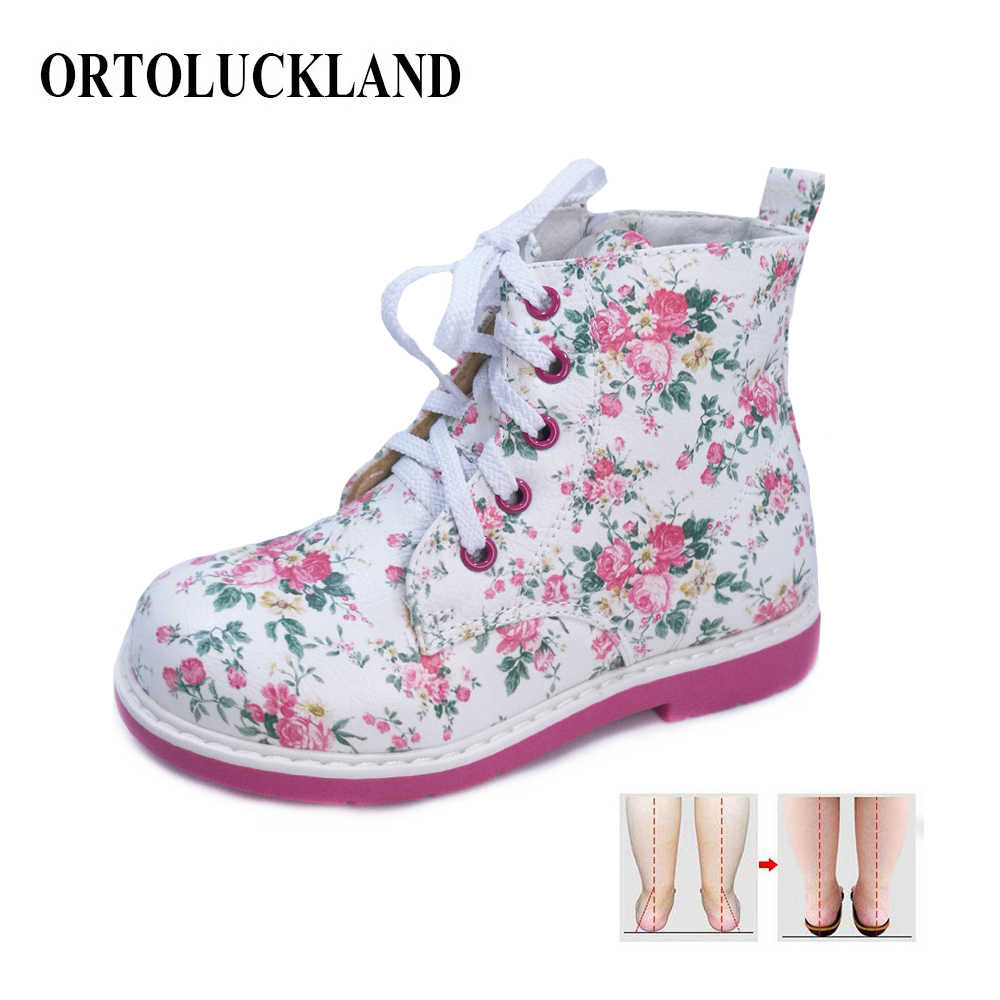 Autumn Girls PU Leather Boots Lace Up