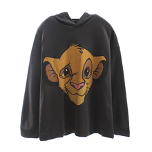 dark gray cartoon print women sweatshirt autumn 2019 streetwear casual loose hoodies knitted pullovers sweatshirts mujer