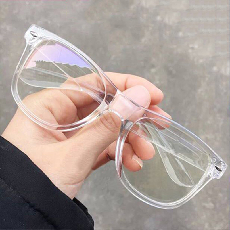 Fashion Unisex Transparent Optical Glasses Frame Flat Mirror Nail Glasses For Men Women Can Optician