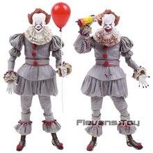 Neca stephen king é o palhaço pennywise horror figura de ação collectible modelo brinquedo