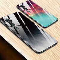 Gradient tempered glass case For samsung Galaxy note 10 plus s10 s10E a50 a70 a40 a30 a20 a10 a50s a30s a20E cover marble coque