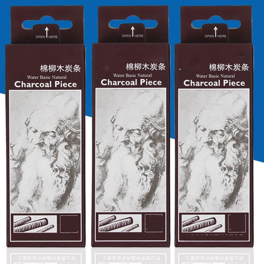 6 шт./компл. 11*0,7 см эскизов темно-серые полосы Хлопок запасами ивовых деревьев древесный уголь бары для художника китайская живопись маслом рисунок инструменты для рисования