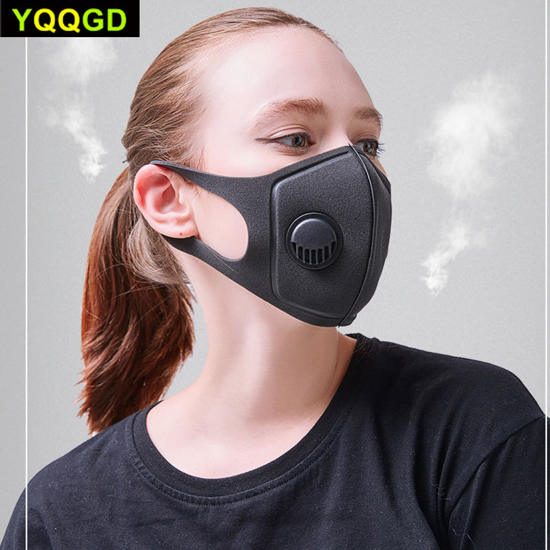 Breath Valve PM2.5 Mouth Mask, Influenza, Anti-Dust Anti Pollution Mask For Man And Woman