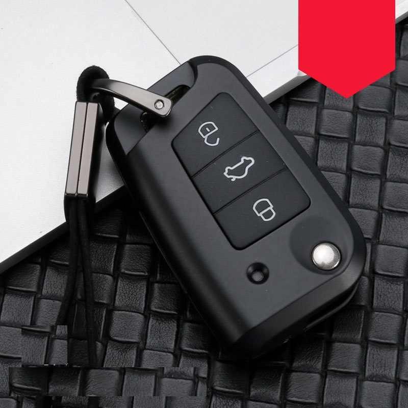 حافظة مفاتيح سيارة مصنوعة من ألياف الكربون لسيارة فولكسفاغن بولو جولف 7 تيجوان لسكودا أوكتافيا كودياك كاروك لمقعد أتيكا ليون إيبيزا