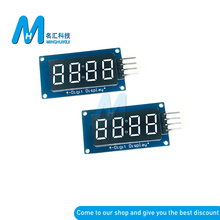 New LED Display Module TM1637 For Arduino 7 Segment 4 Bits 0.36 Inch Clock RED Anode Digital Tube Four Serial Driver Board Pack