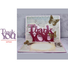 Pop Up Thank You Word Popular Letters Metal Cutting Dies Scrapbooking Album Paper DIY Cards Crafts Embossing New 2019