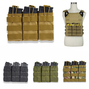 Single / Double / Triple Open Top Military Airsoft Tactical M4 Magazine Pouch AK AR M4 AR15 Rifle Mag Pouch(China)