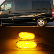36LED Side Marker Lights Side Repeater Lamp 12V Turn Signal Light Panel Lamp For Volkswagen Crafter For Benz Sprinter W906