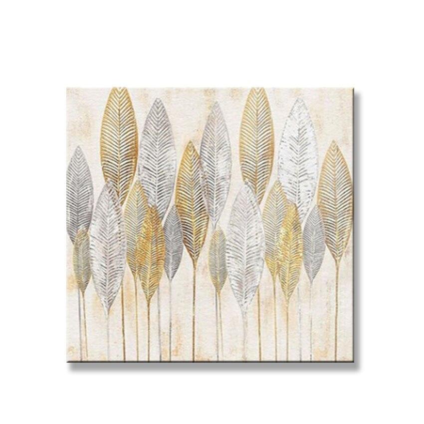 Pintura a Óleo Ouro e Folha de Prata Imagem para Sala Quarto sem Moldura Venda Quente Artesanal Lona Pendurado Estar 100%