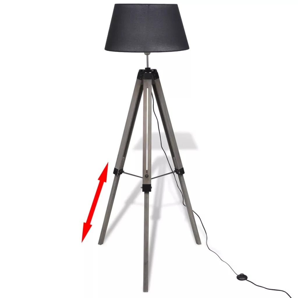 Industrial Bar Creative Studio Retro Tripod Black Floor Lamp Lights Light Stand Ceiling Lighting For Living Room Free Shipping