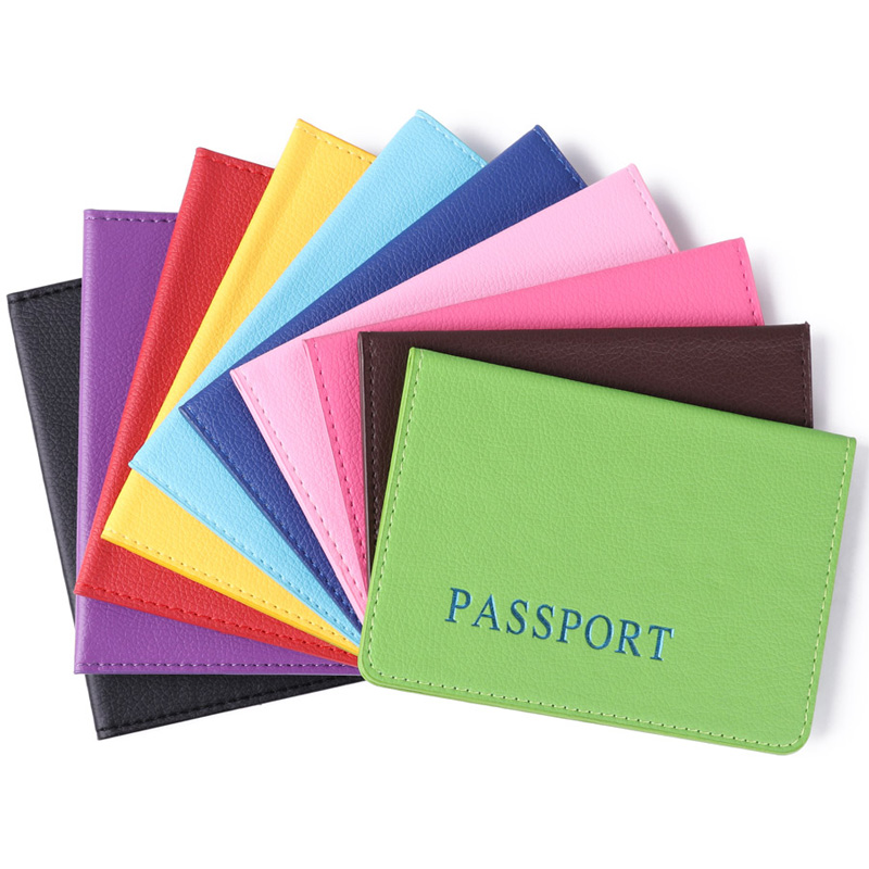 1Pcs Letter Print Passport Holder Protector Wallet Business Card Soft Passport Cover Card Holder Paspoorthoesje Porta Pasaporte