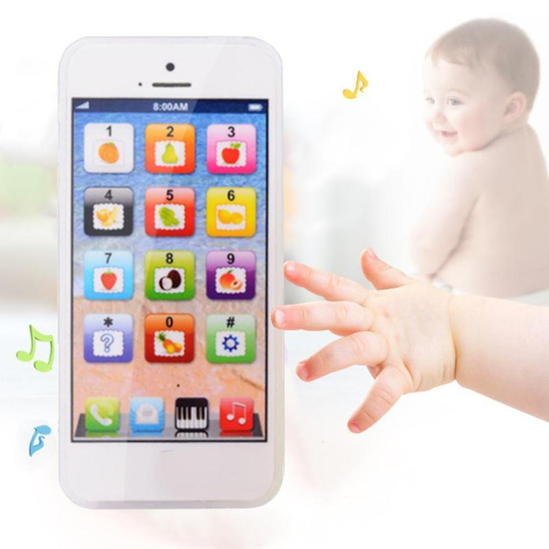 Baby Mobile Phone Toy Educational Toys Cellphone LED Educational English Learning Cell Phone Music Electronic Toys For Children