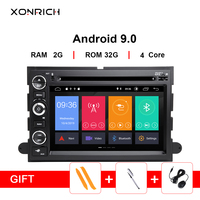 2din Android 9.0 Car Multimedia Player For Ford F150 F350 F450 F550 F250Fusion Expedition Mustang Explorer Edge Navigation Radio