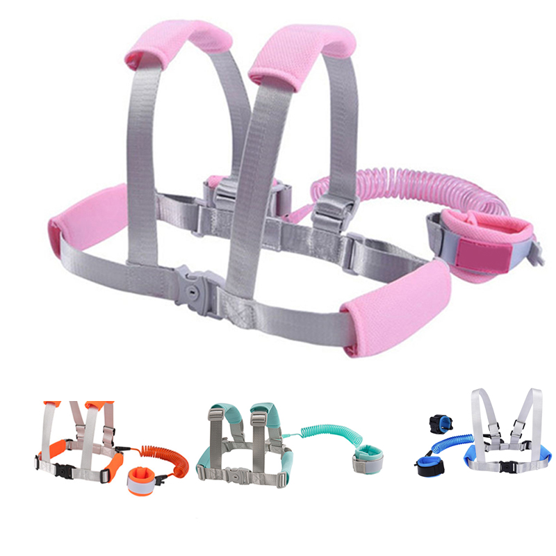 High Quality 2 In 1 Toddler Leash Anti Lost Wrist Link Kid Harness Wrist Leashes With Safty Lock