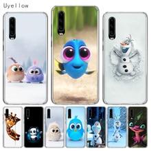 Uyellow Silicone Phone Case For Huawei P10 P20 P30 Lite Pro Hawei Mate 10 20 lite P Smart Plus 2019 Cute Cartoon Image