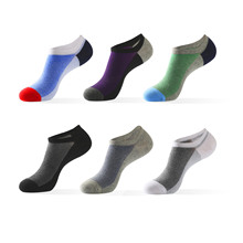 5 Pairs Mens Boat Cotton No Show Socks Coton Ankle Socks Man