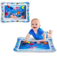 Criativo inflável bebê jogo cobertor almofada infantil criança água jogar esteira educação desenvolvimento brinquedos do bebê padrão dos desenhos animados