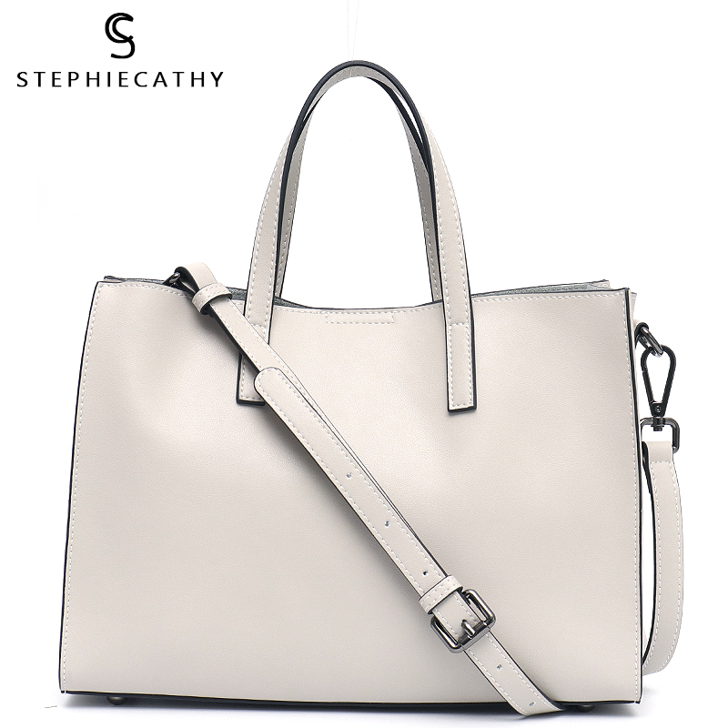 SC Leather Handbag For Women 2019 High Quality Leather Shoulder Bag Ladies Big Tote Daily Office Bag Femal Crossbody Bolso Mujer