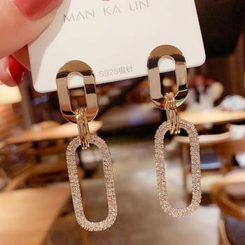 New Women's Earrings Korean Stud Earrings for Women Vintage Pearl Dangle Drop Gold Earring Set 2021 Trend Earings Female Jewelry 1