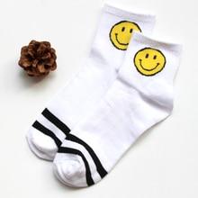 New Arrival Fashion 5 Colors Women Men Lovely Stripe Smile Socks Popular Hot