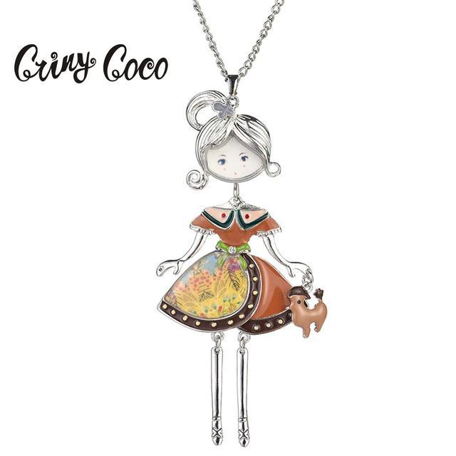 Doll Choker Necklace Pendant