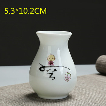 Modern Hyacinthus Orientalis Vase Decoration Living Room White Porcelain Small Fresh Dry Flower Flower Arrangement Creative Ceramic Flower M2872 image