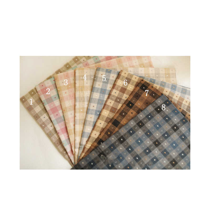 50*70CM Japanese yarn-dyed fabric, 8 color checked jacquard fabric, handmade, DIY decorative fabric
